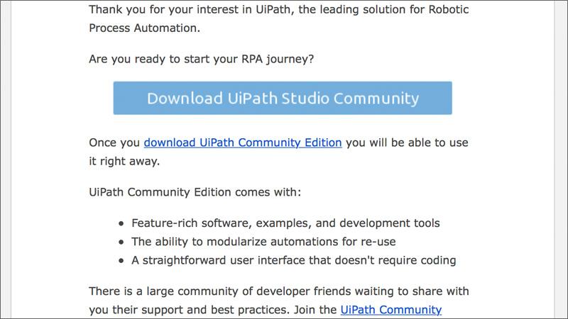 小規模事業者向け無償RPAツール『UiPath Community Edition』を